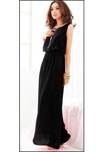 Black Long One Piece Dress