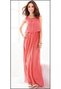 Pink Long One Piece Dress