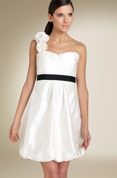 White One Shoulder One Piece Dress