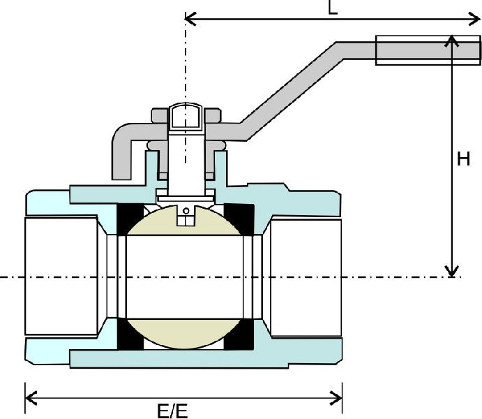 Investment Casted Screwed End Ball Valve 02