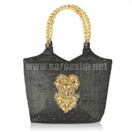 Beaded Handle Handbags
