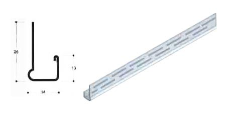 Perforated Board Protection Channel