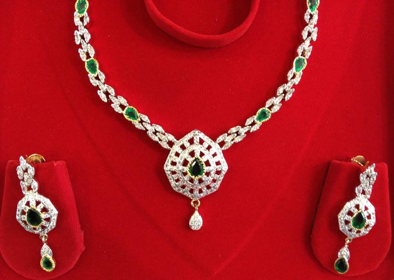 Cubic Zirconia Necklace Set