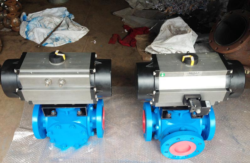 3 Way and 4 Way Flanged Ball Valve