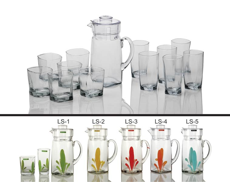 13 Piece Glass Lemonade Set