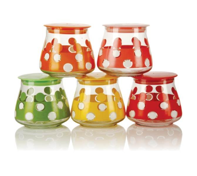 5 Piece Glass Jar Set