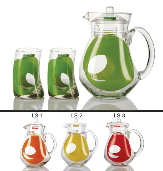 7 piece glass lemonade set7 piece lemonade set