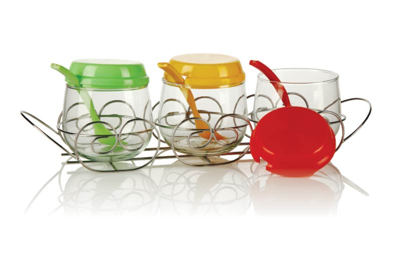 3 Piece Glass Jar Set