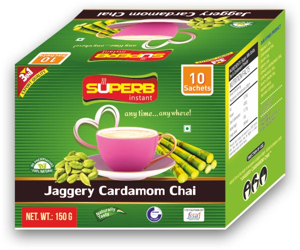 Superb Instant Jaggery Cardamom Tea 01