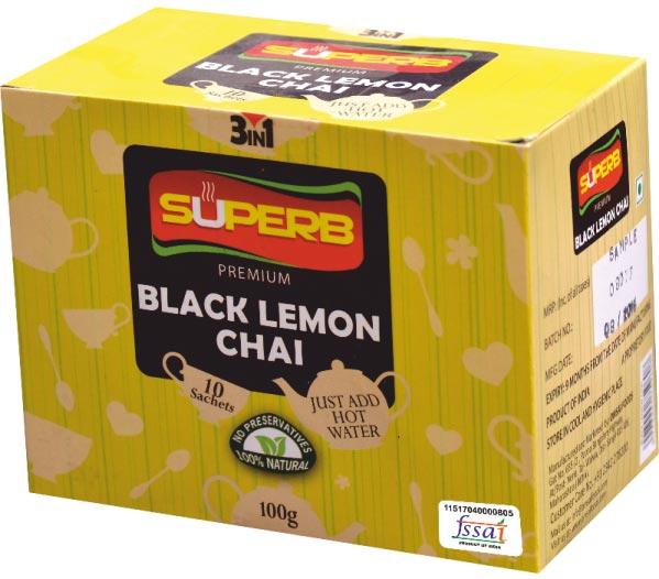 Superb Premium Black Lemon Tea