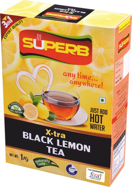 Superb X-Tra Black Lemon Tea
