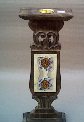 Wooden Pillar Candle Holder 03
