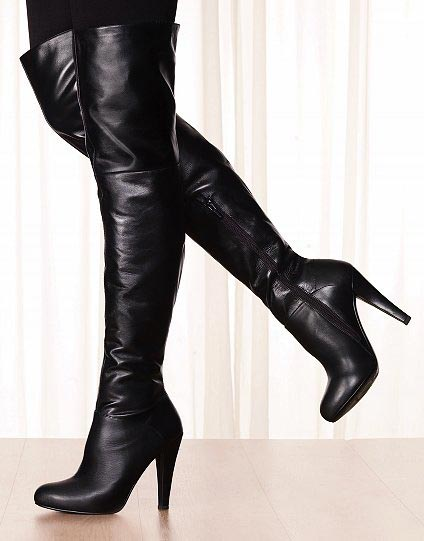 Black Long Boots Womens