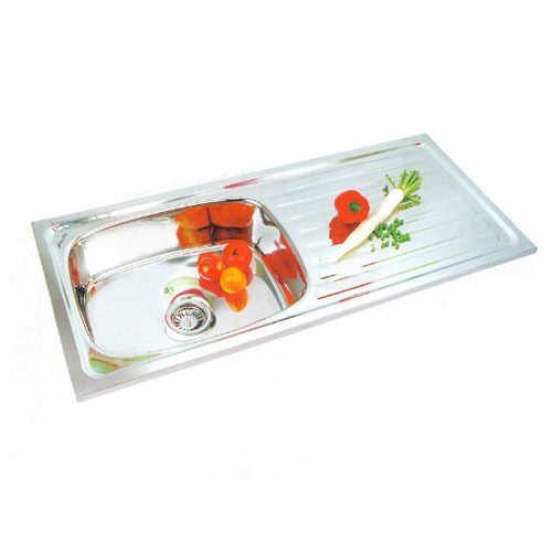 Stainless Steel Single Bowl Drainboard Sink