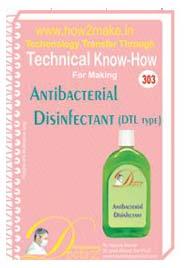 Antibacterial Disinfectant Formulation (eReport)