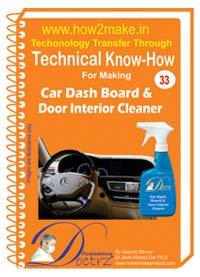 Car Dash Board & Door Interior Cleaner Formulation (eReport)