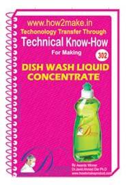 Dish Wash Liquid Concentrate Formulation (eReport)