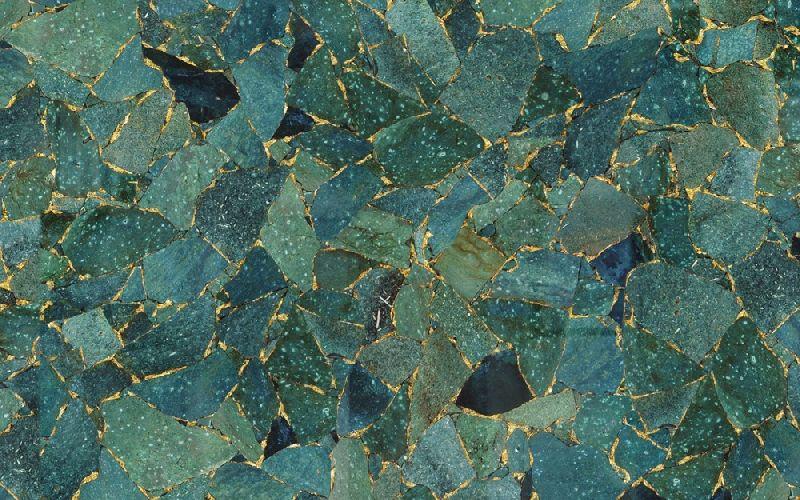 Green Jasper Semi Precious Slab 04