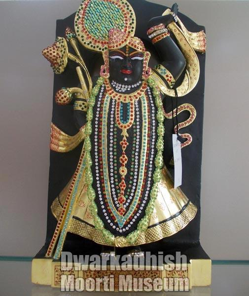 Black Marble Krishna Statue 02