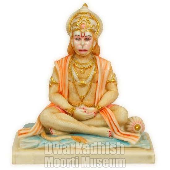 Cultural Marble Hanuman Statue