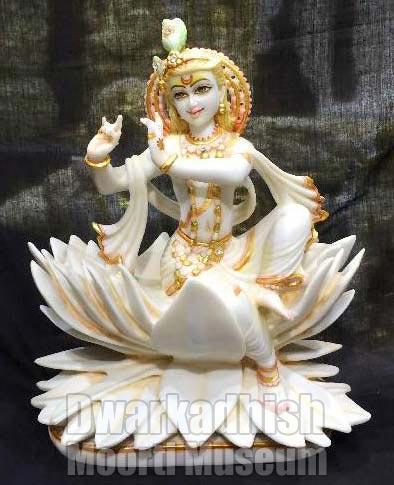 Cultural Marble krishna Statue 03