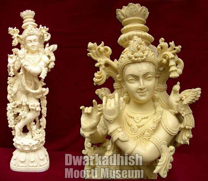 Cultural Marble krishna Statue 04