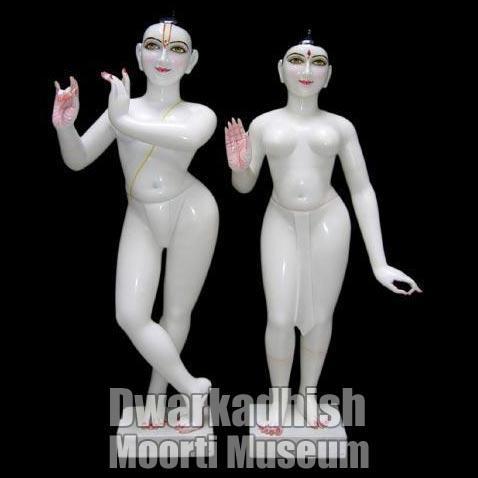 Marble Iskcon Radha Krishna Statue 02