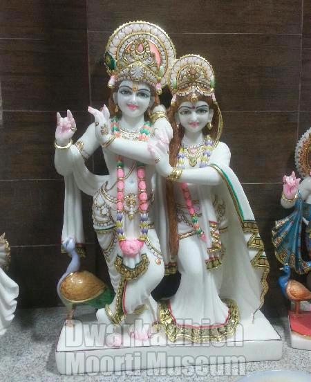 Marble Radha Krishna Statue 01