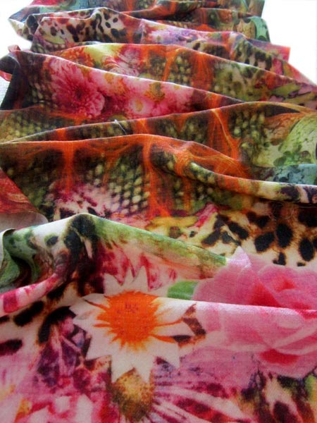 Digital Printed Wool Shawl 04