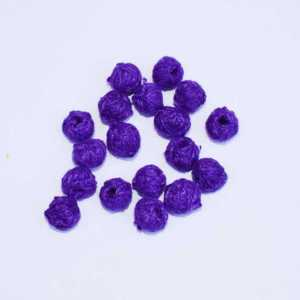 Dark Purple Cotton Thread Beads