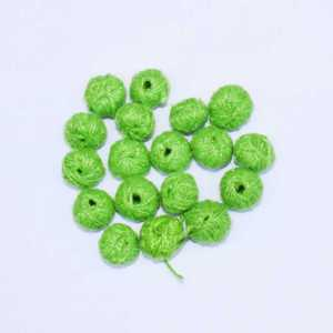 Lime Green Cotton Thread Beads