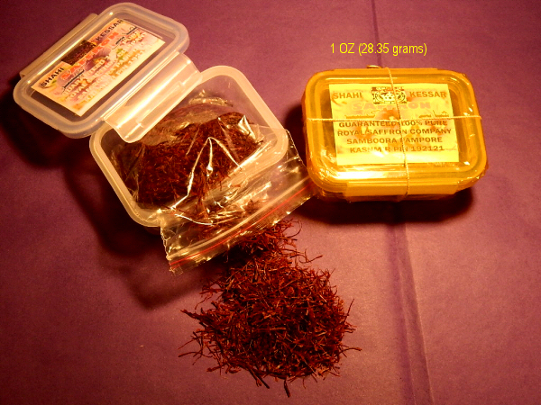 Saffron Packaging Material 01
