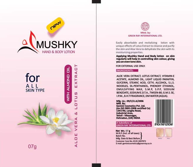 Body Lotion Packaging Pouches