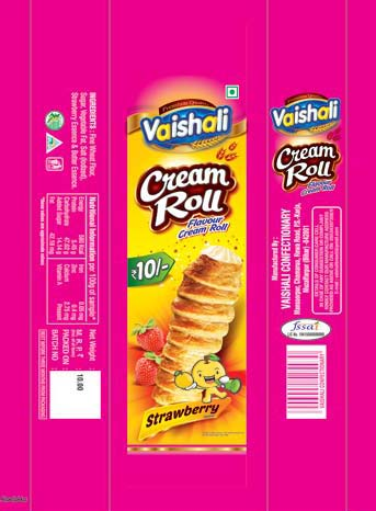 Cream Roll Packaging Pouches