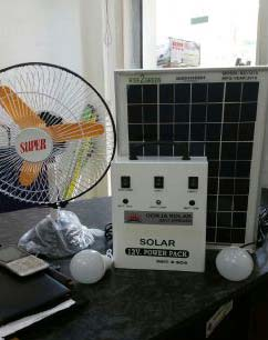 Solar Home Lighting System With Fan