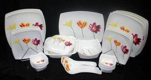 3 Flower Design Dinner Set