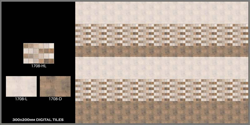 Digital Wall Tiles 200x300mm
