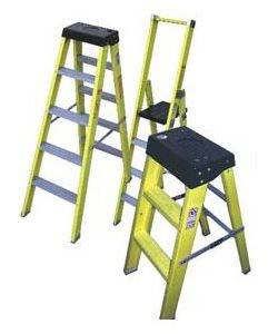 Self Supporting Fiberglass Ladder & Fiberglass Step Stool Ladder