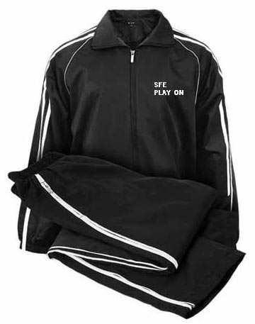 Black Sports Track Suit with White Strips