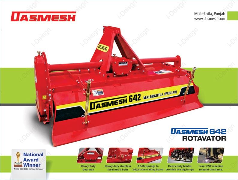 Dasmesh (642) Agricultural Rotavator 01