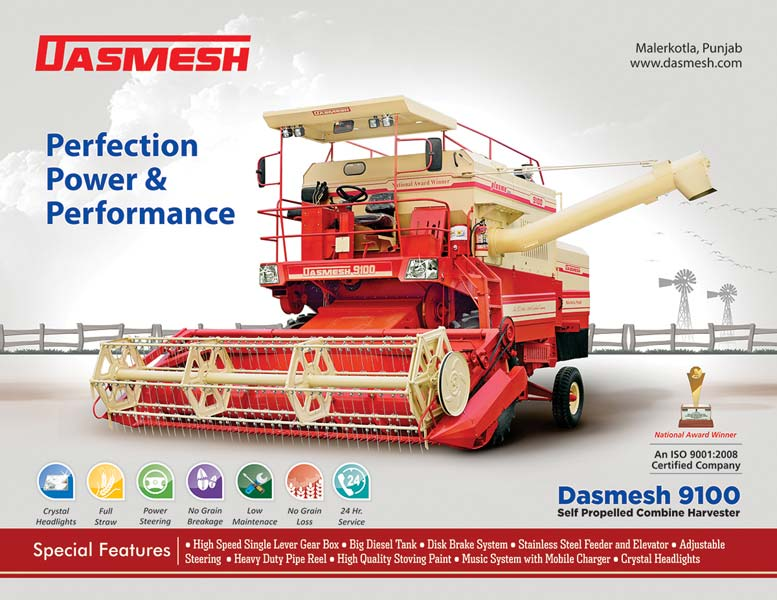Dasmesh (9100) Self Propelled Combine Harvester 01