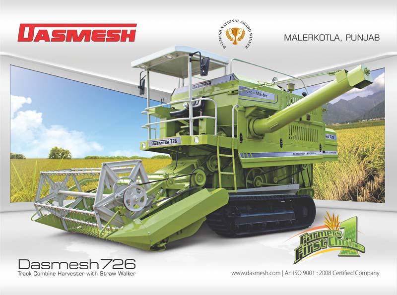 Dasmesh (726) Track Combine Harvester