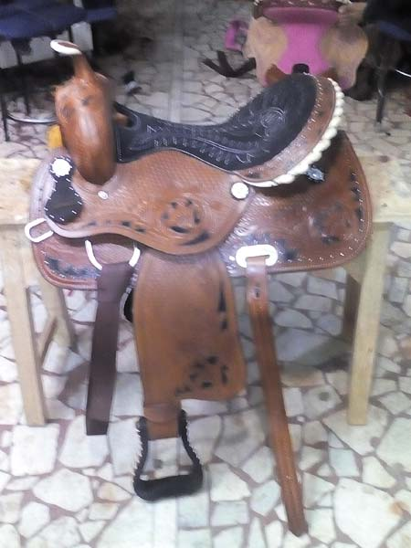 Barrel Horse Saddle 05