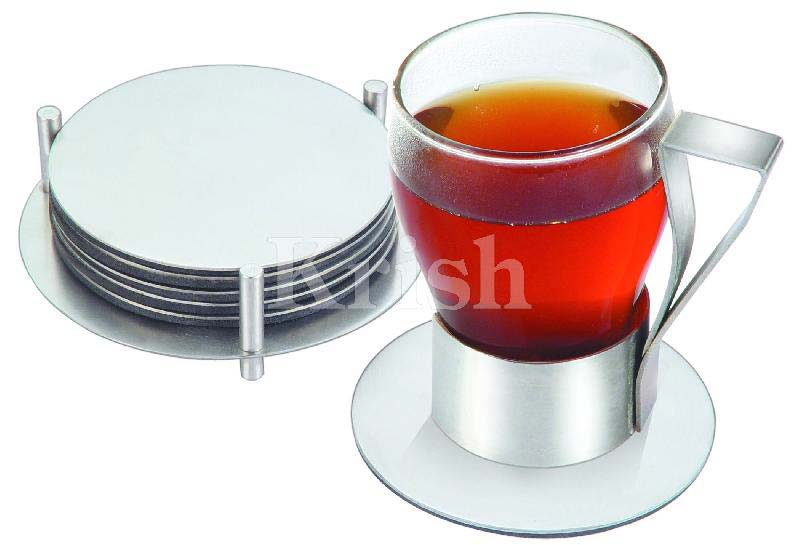 Stainless Steel Round Coaster with Stand