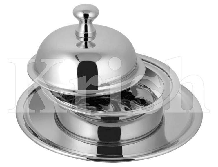 Stainless Steel Butter Dish with Cover