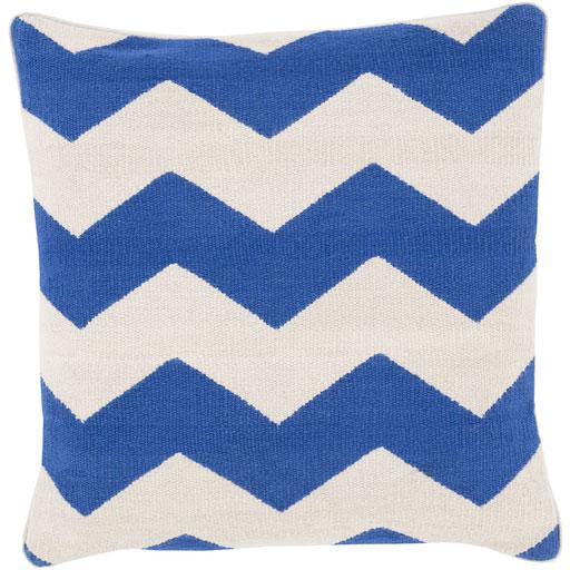 Blue Zigzag Cotton Cut Shuttle Rug Cushion (Item Code : CUCS0052)