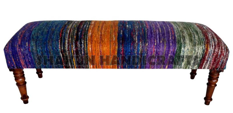 Silk Chindi Colourful Stripe Bench (Item Code : BESC0631)