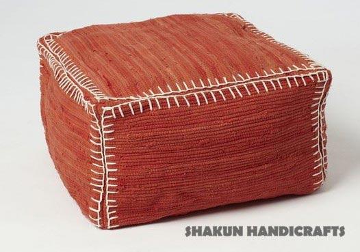Cotton Chindi Pouf (Item Code : POCC0631)