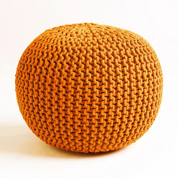 Cotton Knitted Poufs