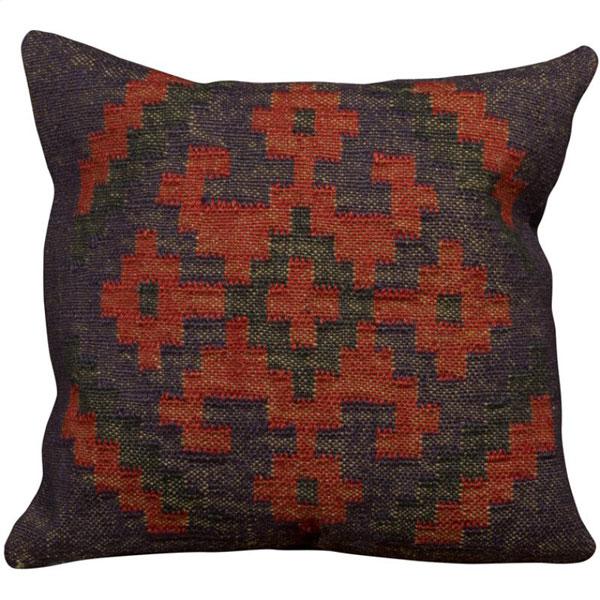 Wool Jute Kilim Cushion (Item Code : CUWJ0109)